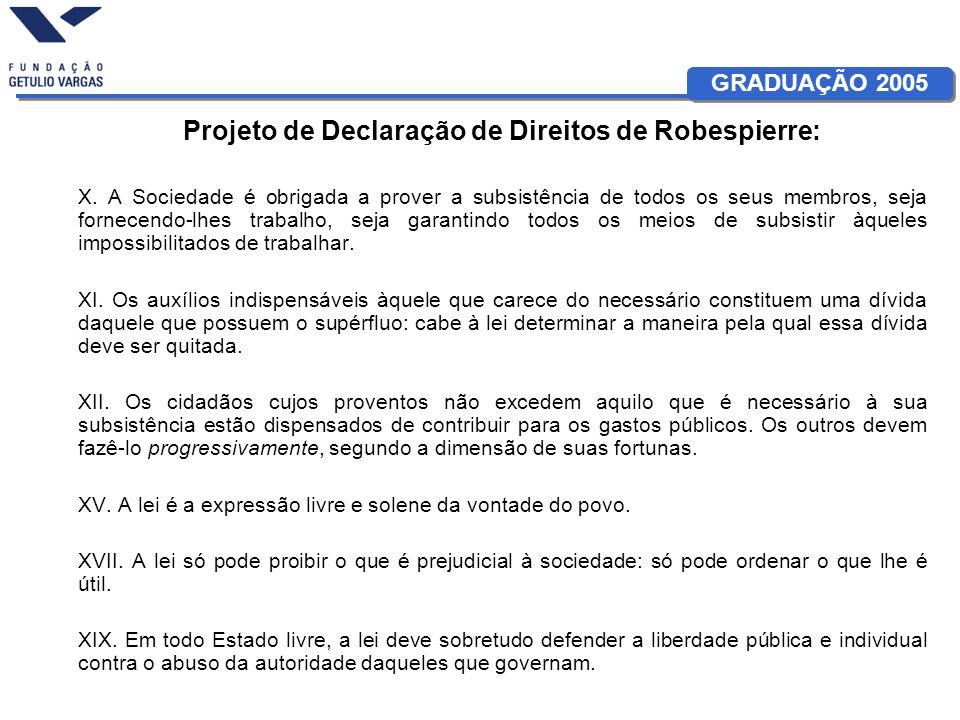 Projeto de Declaração de Direitos de Robespierre:
