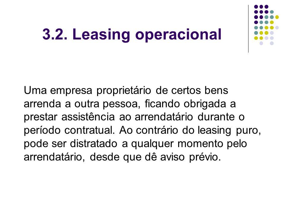 3.2. Leasing operacional