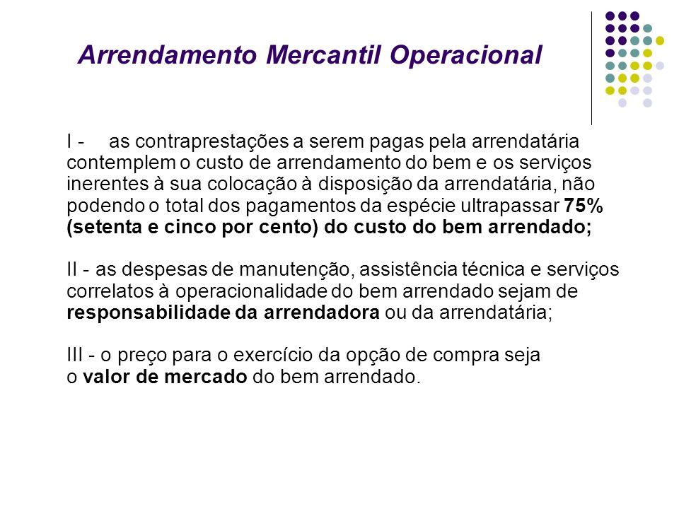 Arrendamento Mercantil Operacional