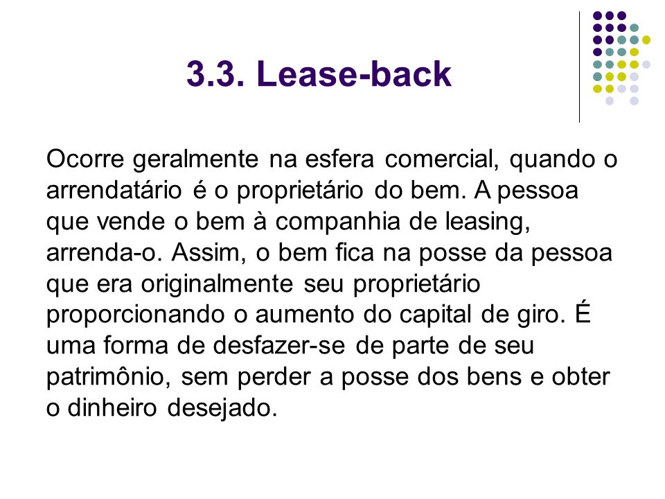 3.3. Lease-back