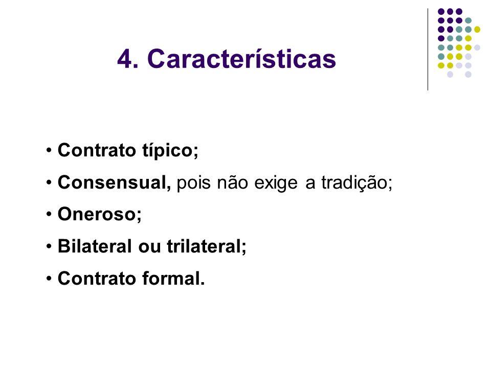 4. Características Contrato típico;