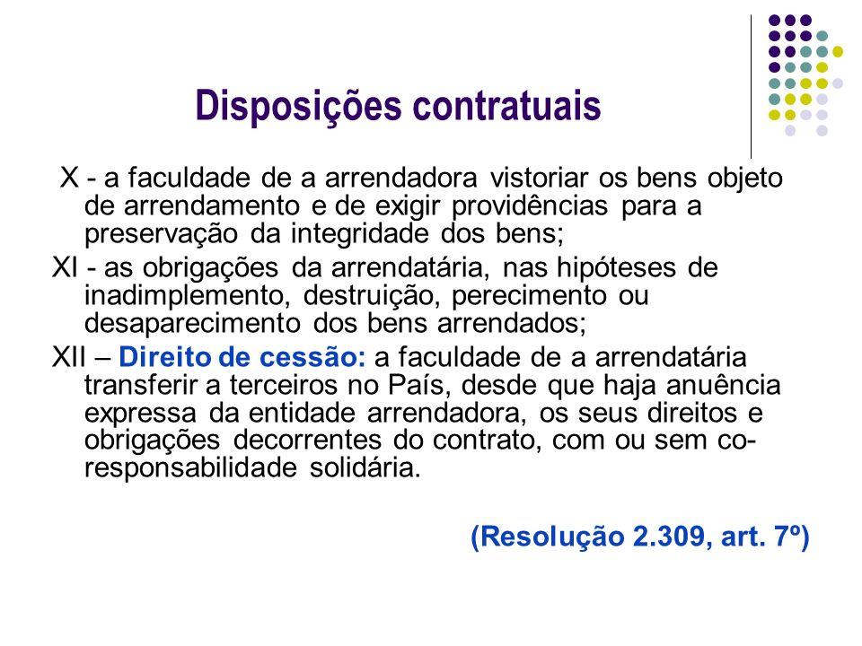 Disposições contratuais