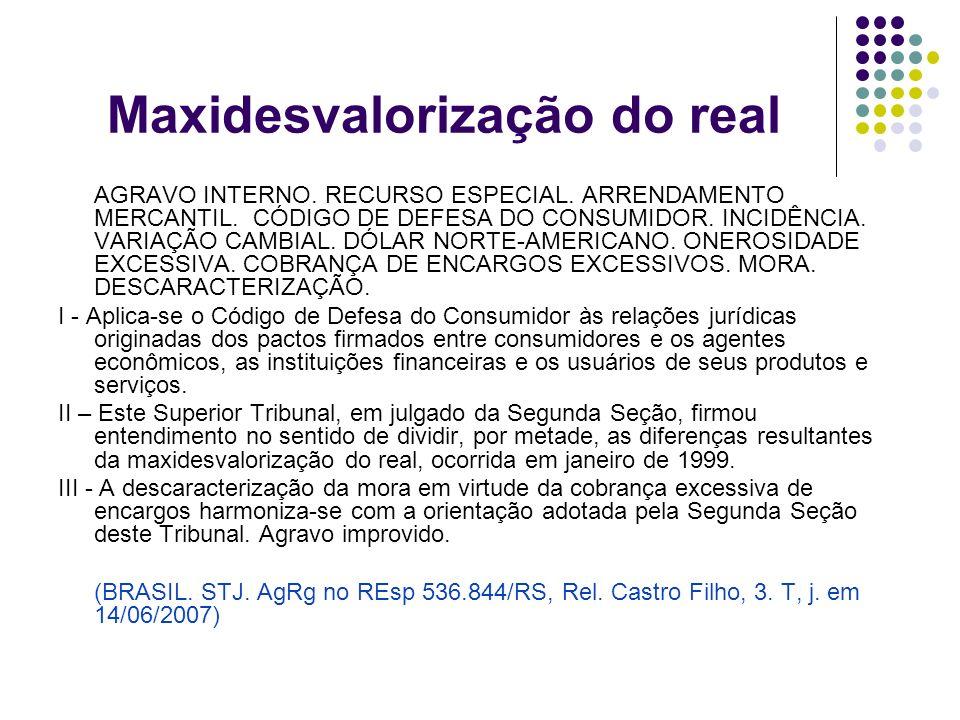 Maxidesvalorização do real
