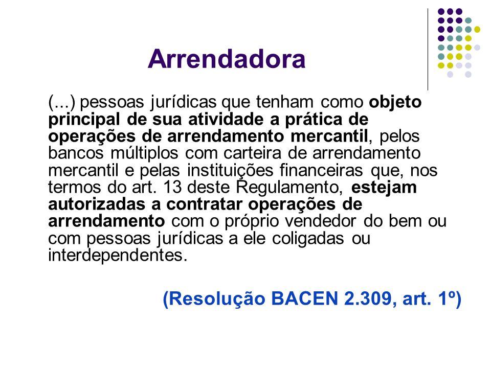 Arrendadora (Resolução BACEN 2.309, art. 1º)