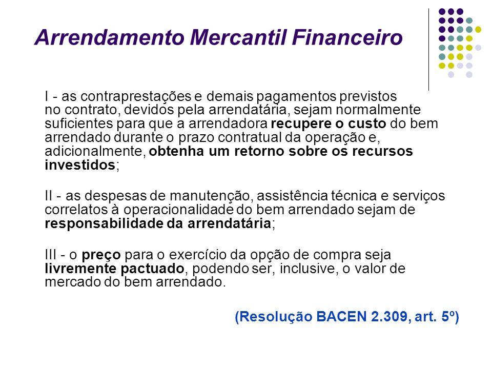Arrendamento Mercantil Financeiro
