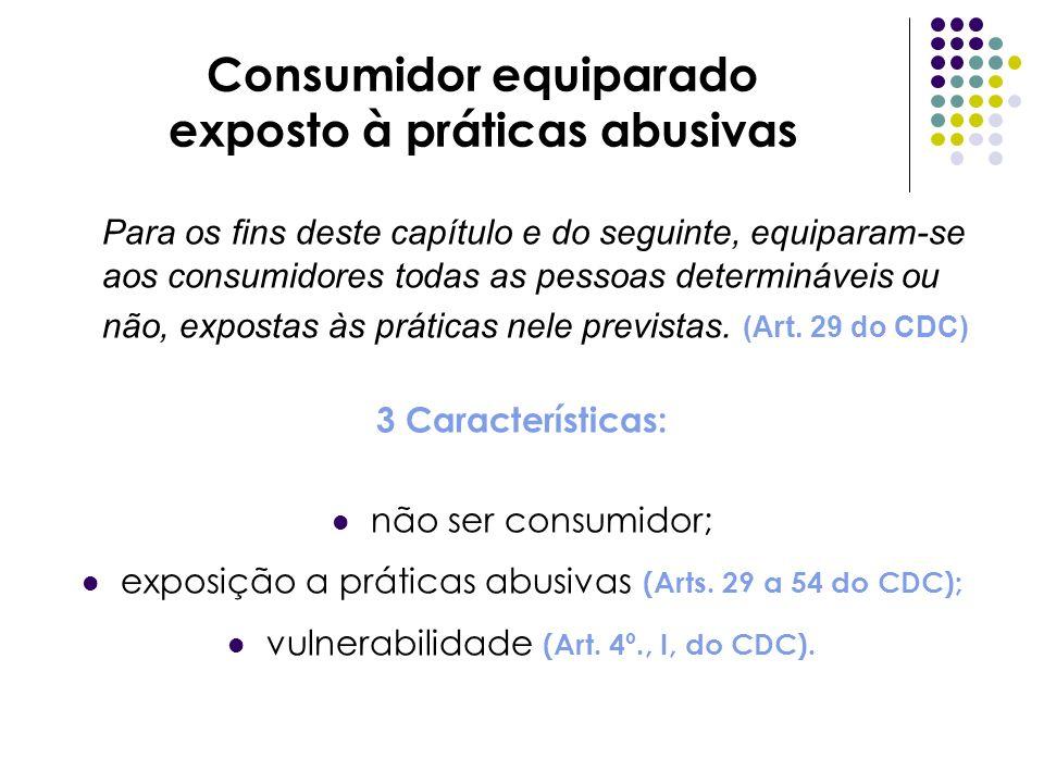 Consumidor equiparado exposto à práticas abusivas
