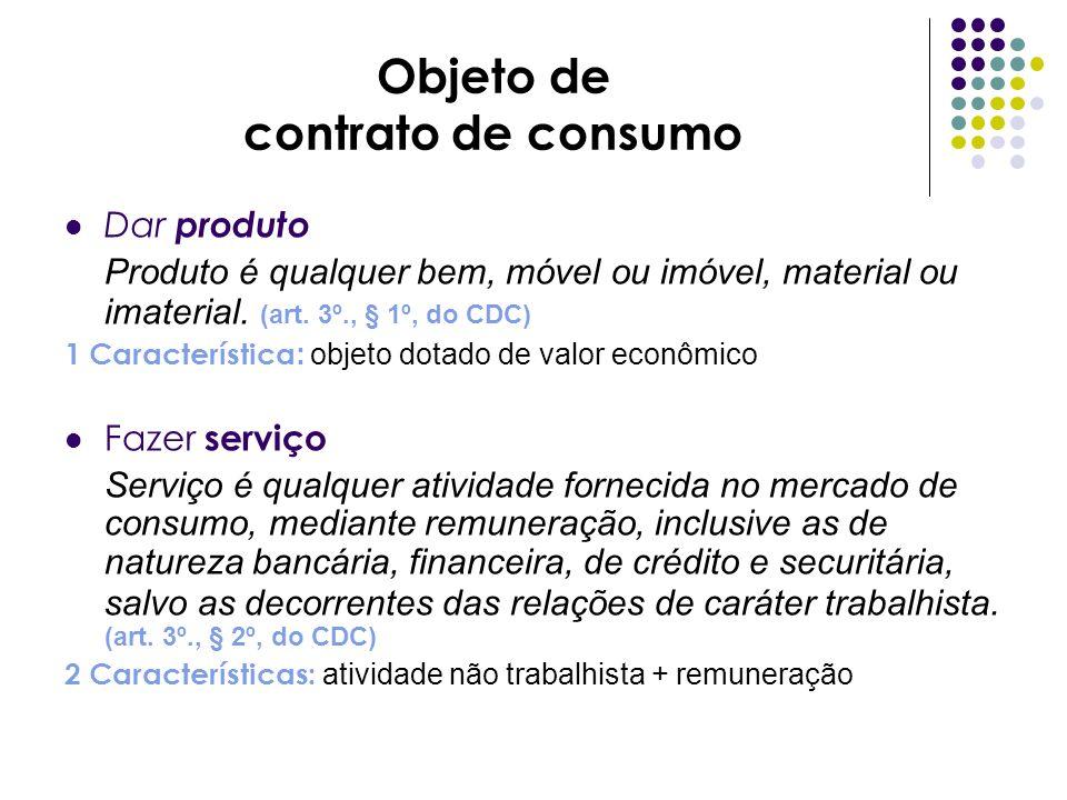 Objeto de contrato de consumo