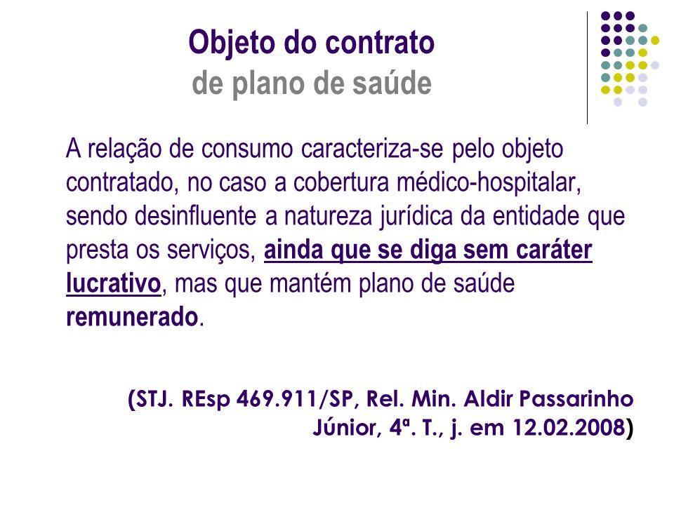 Objeto do contrato de plano de saúde