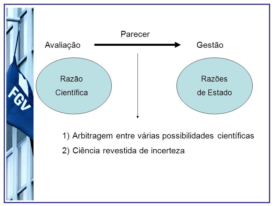 Arbitragem entre várias possibilidades científicas