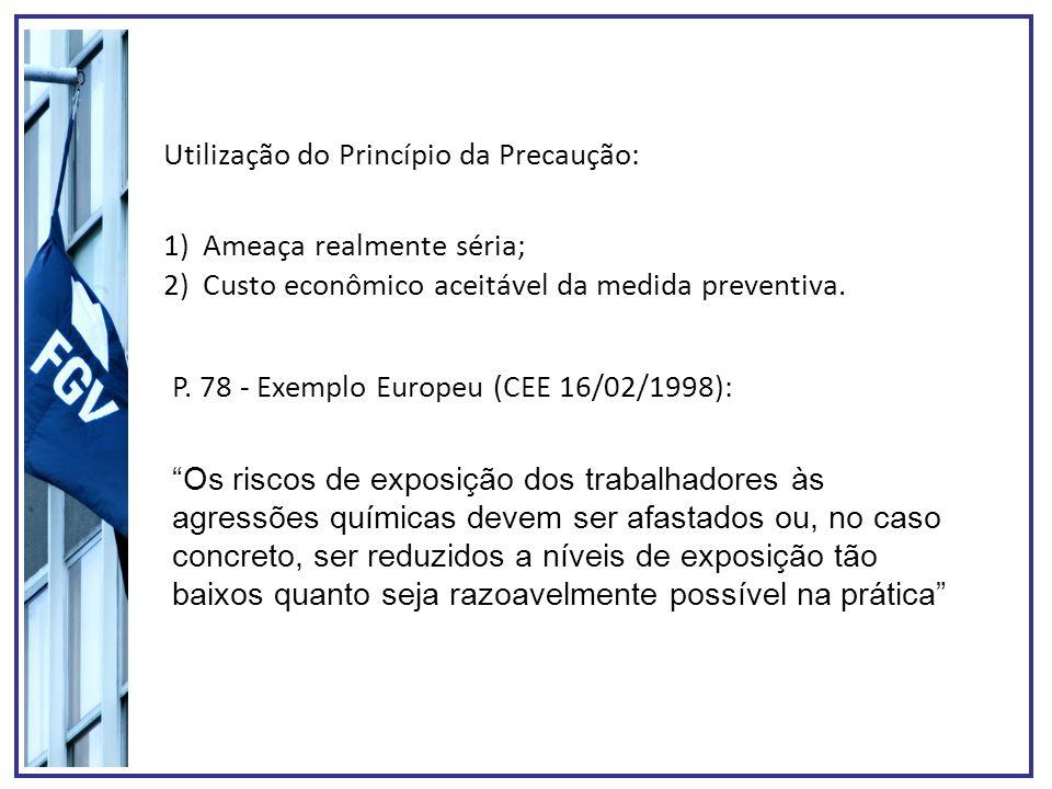 Utilização do Princípio da Precaução: