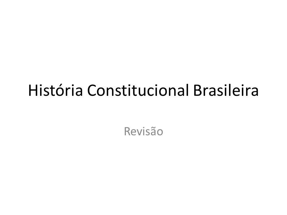 História Constitucional Brasileira