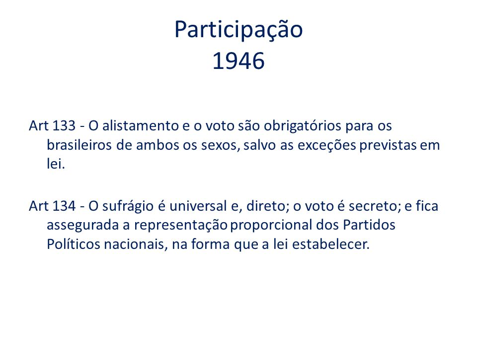 Participação 1946