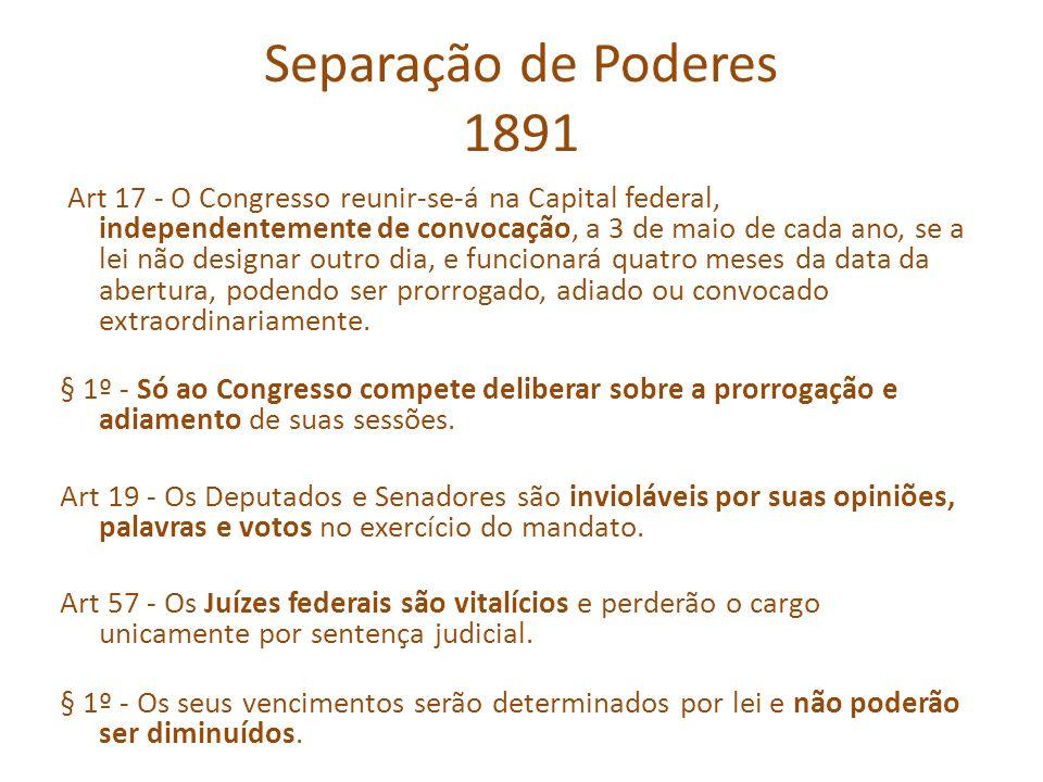 Separação de Poderes 1891