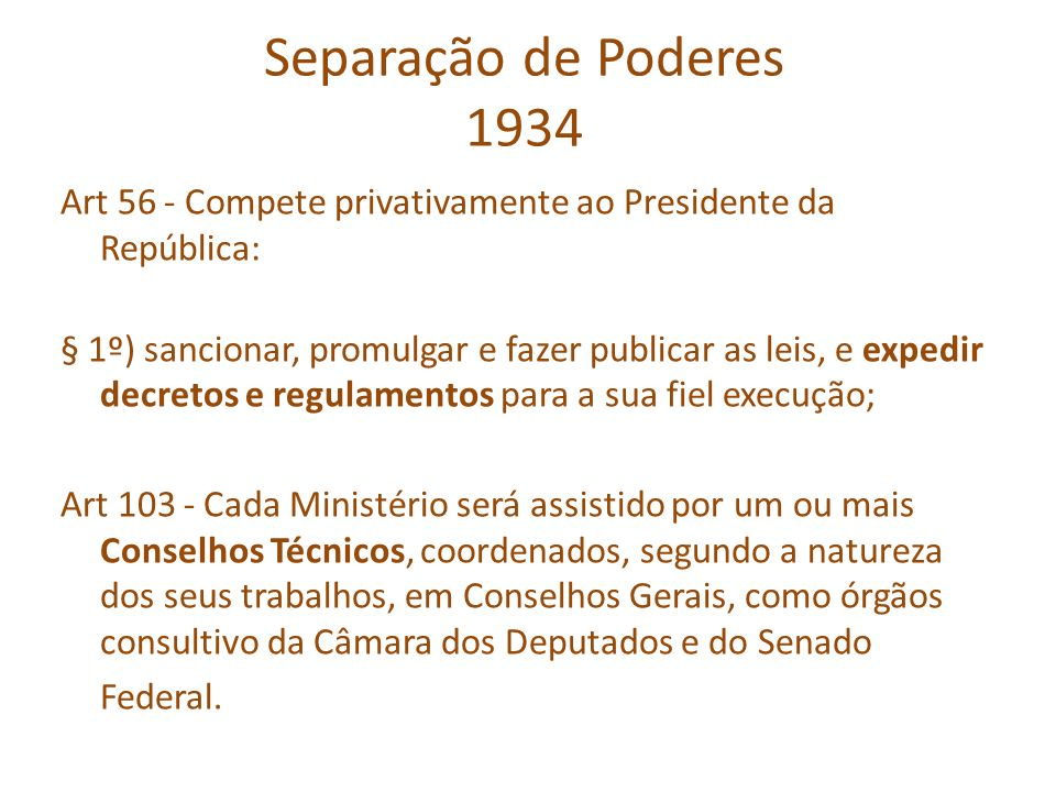 Separação de Poderes 1934