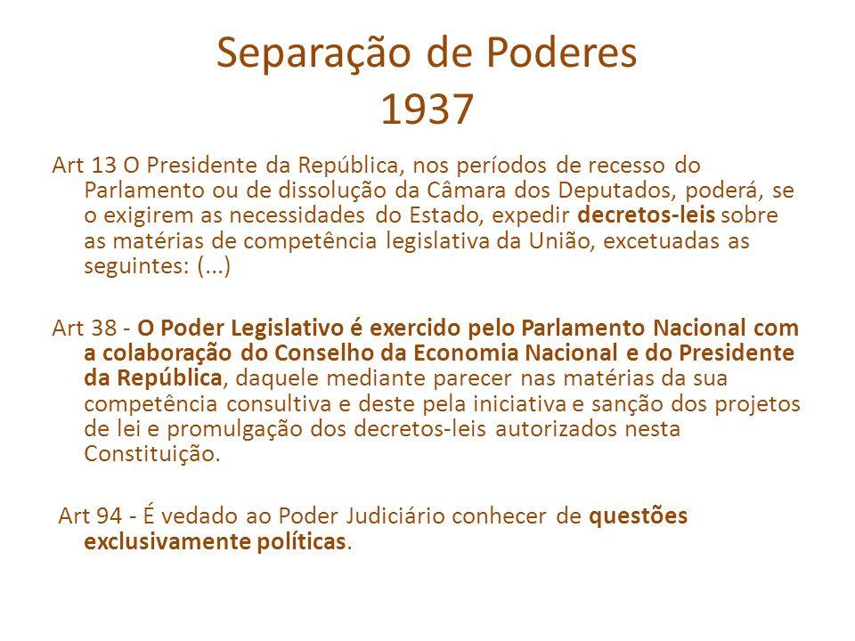 Separação de Poderes 1937