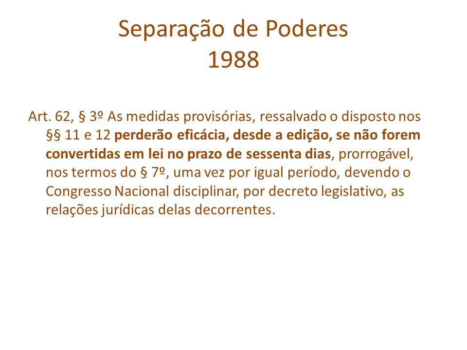 Separação de Poderes 1988