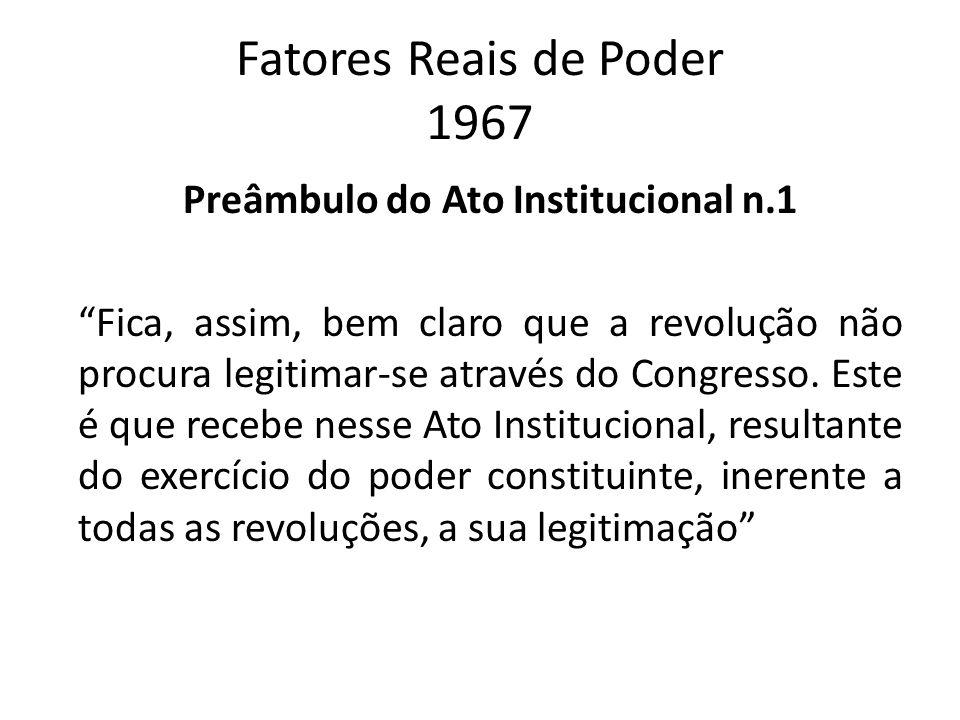 Fatores Reais de Poder 1967