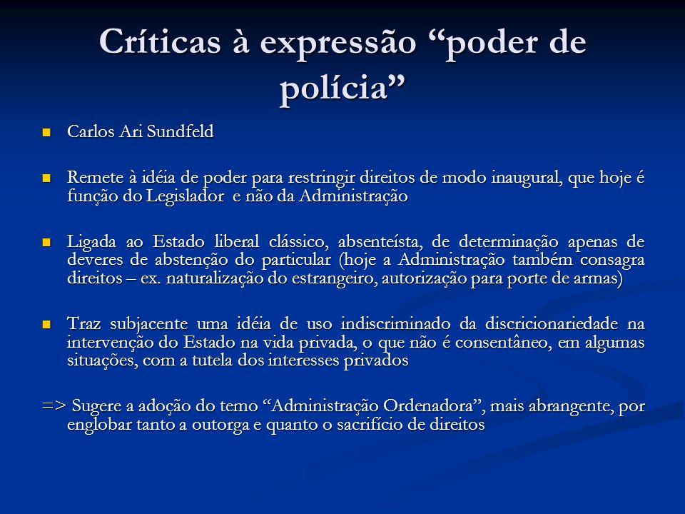 Críticas à expressão poder de polícia