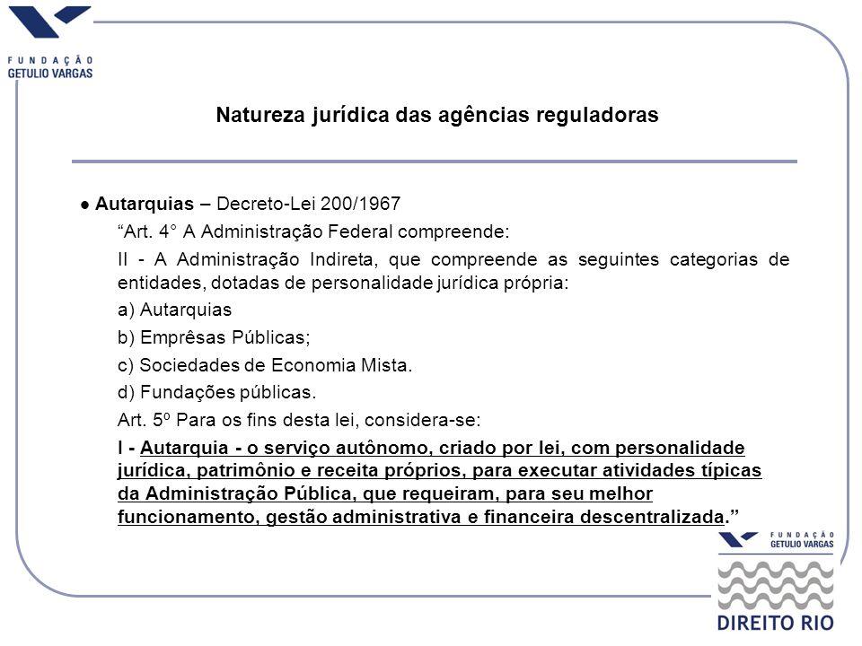 Natureza jurídica das agências reguladoras