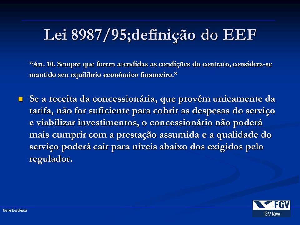 Lei 8987/95;definição do EEF