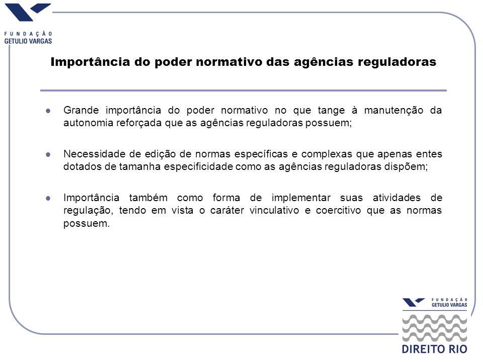Importância do poder normativo das agências reguladoras