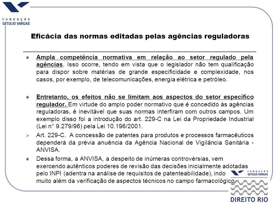 Eficácia das normas editadas pelas agências reguladoras