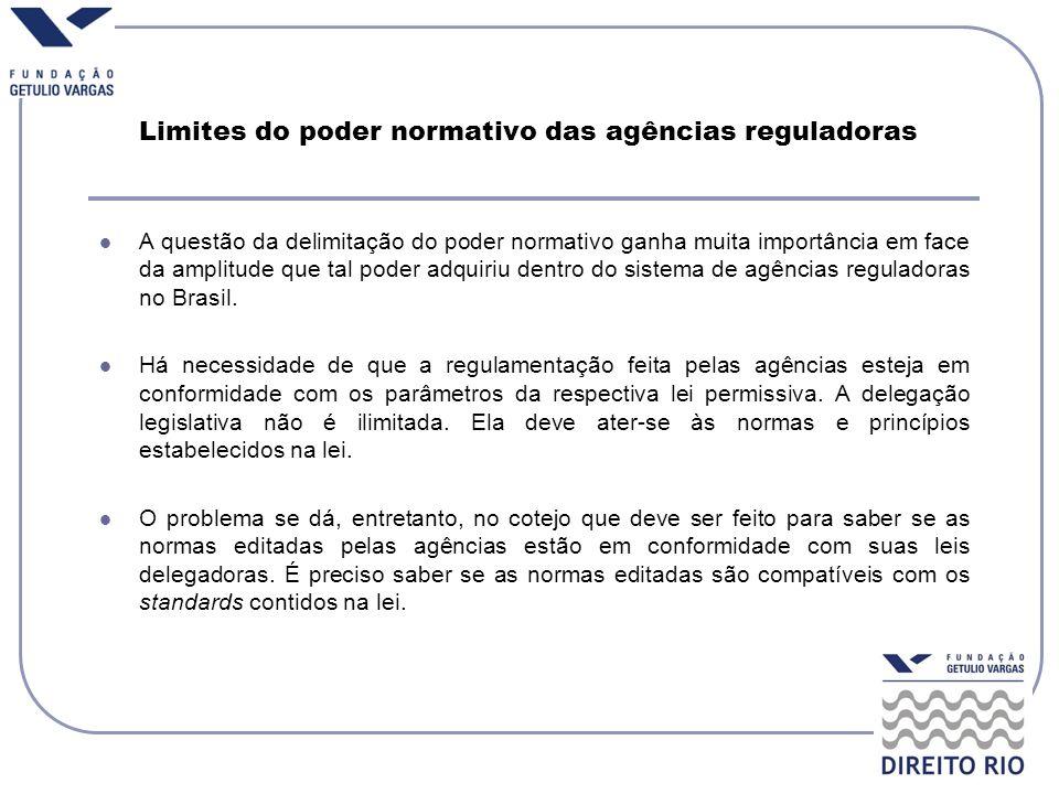 Limites do poder normativo das agências reguladoras
