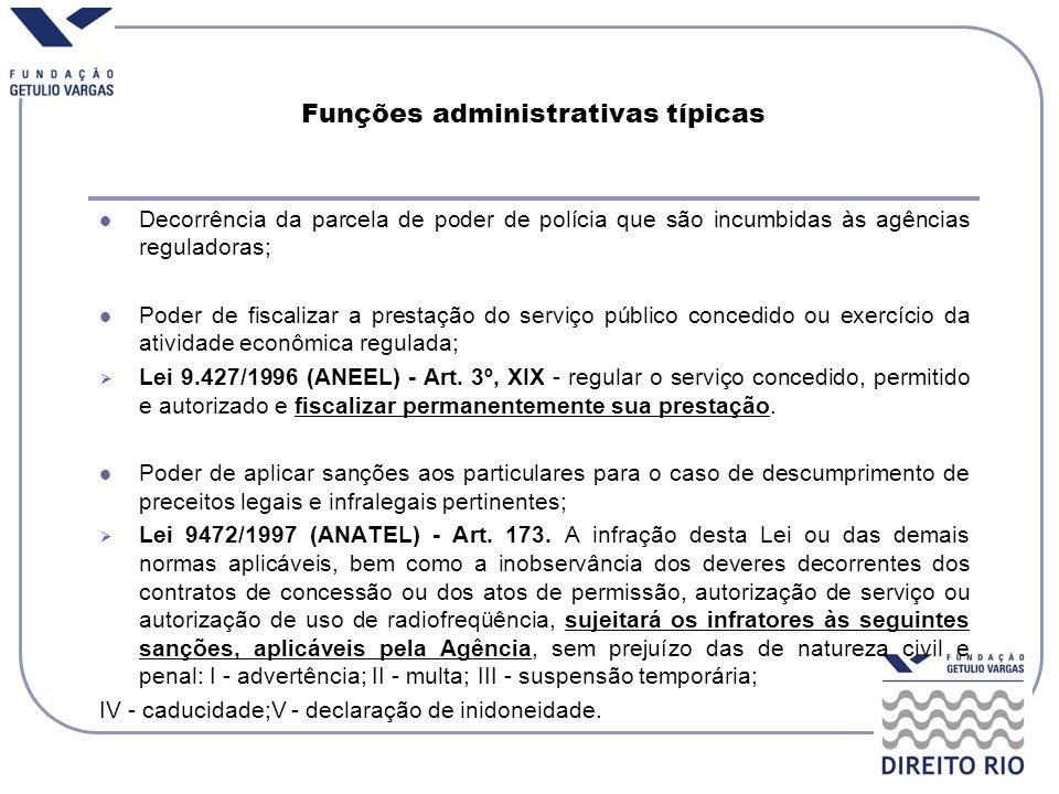 Funções administrativas típicas