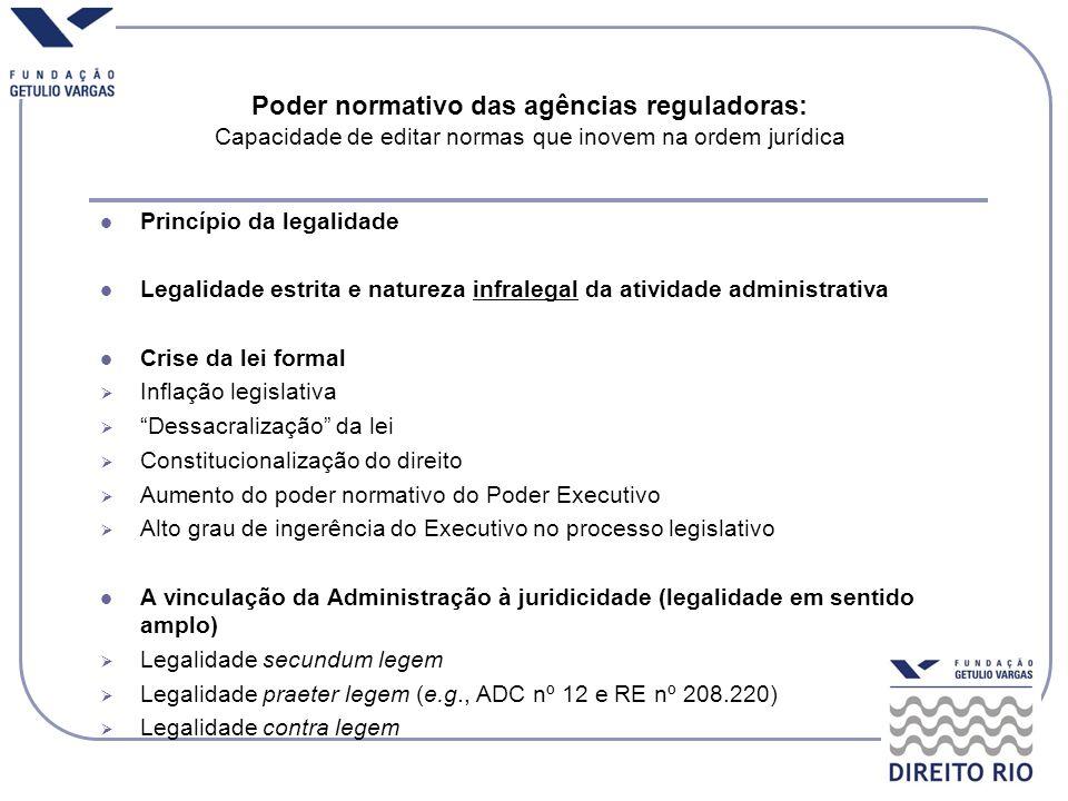 Poder normativo das agências reguladoras: