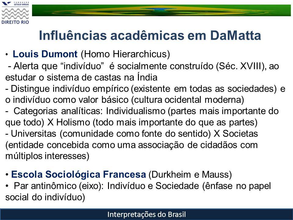 Influências acadêmicas em DaMatta