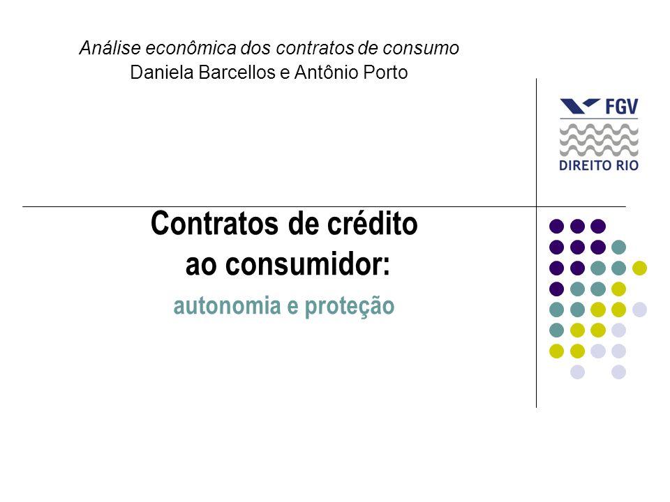 Contratos de crédito ao consumidor: autonomia e proteção