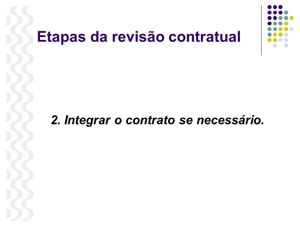 Etapas da revisão contratual