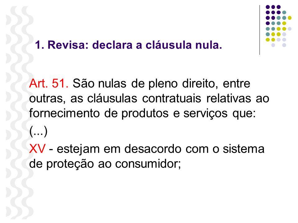 1. Revisa: declara a cláusula nula.