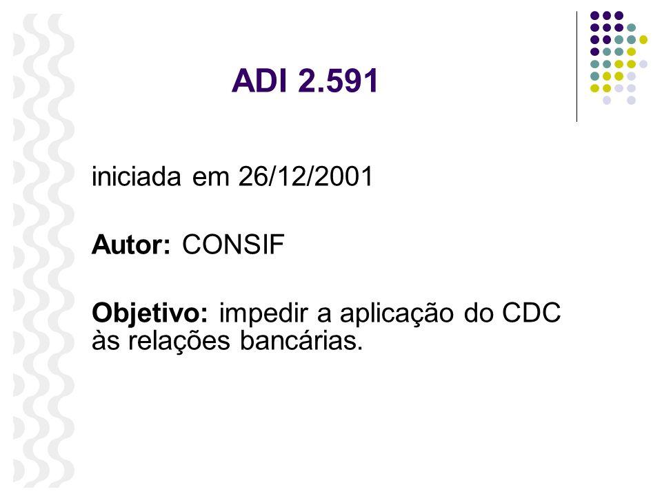 ADI 2.591 iniciada em 26/12/2001 Autor: CONSIF