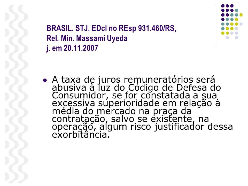 BRASIL. STJ. EDcl no REsp 931.460/RS, Rel. Min. Massami Uyeda j. em 20.11.2007