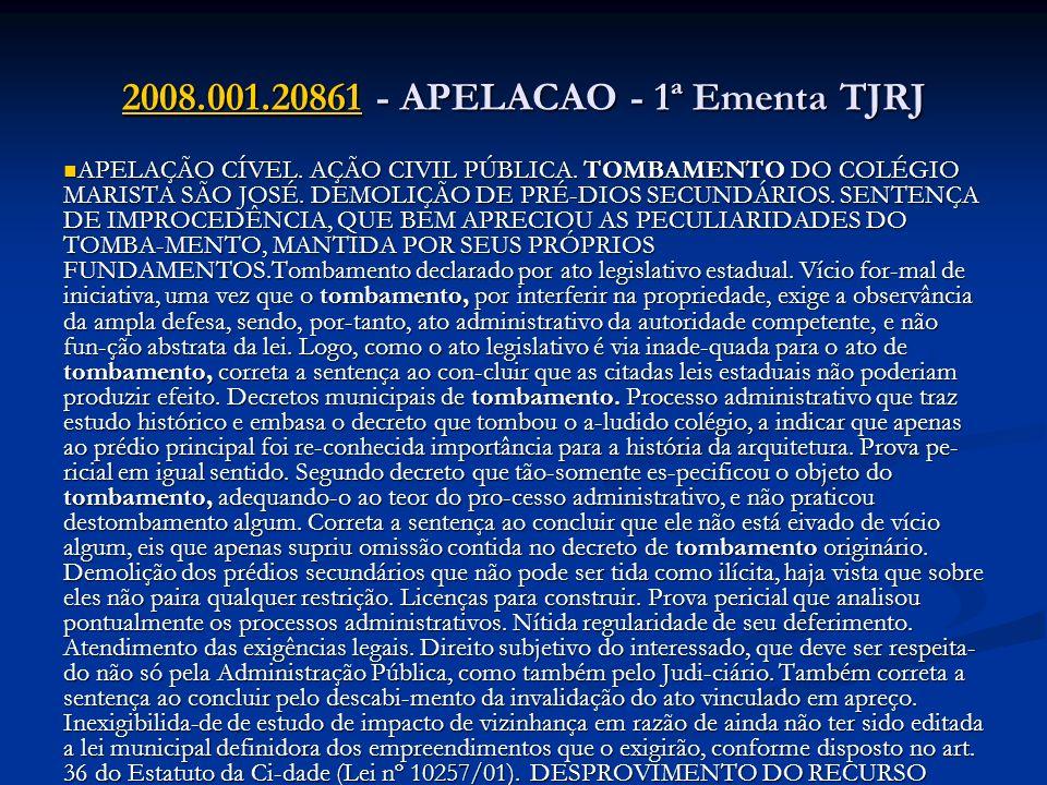 2008.001.20861 - APELACAO - 1ª Ementa TJRJ