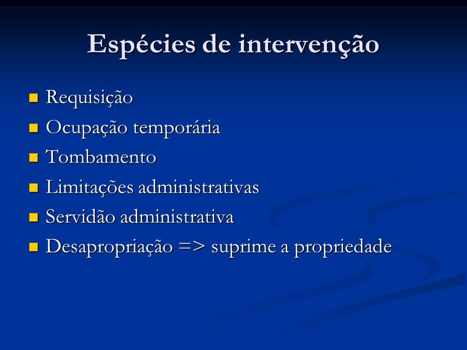 Espécies de intervenção