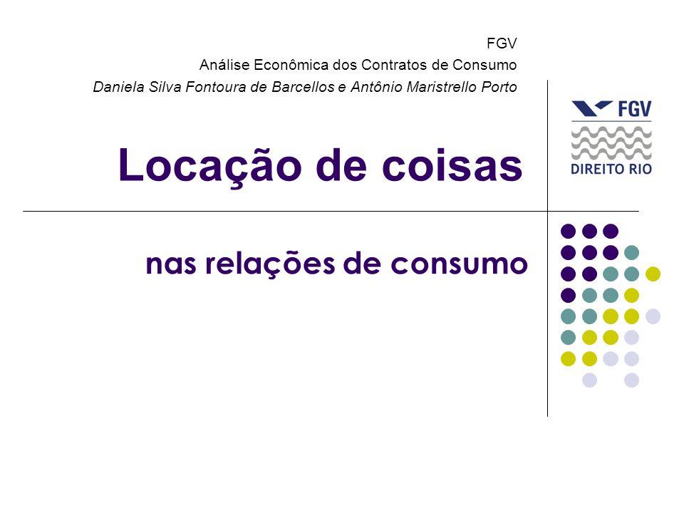 Locação de coisas nas relações de consumo FGV