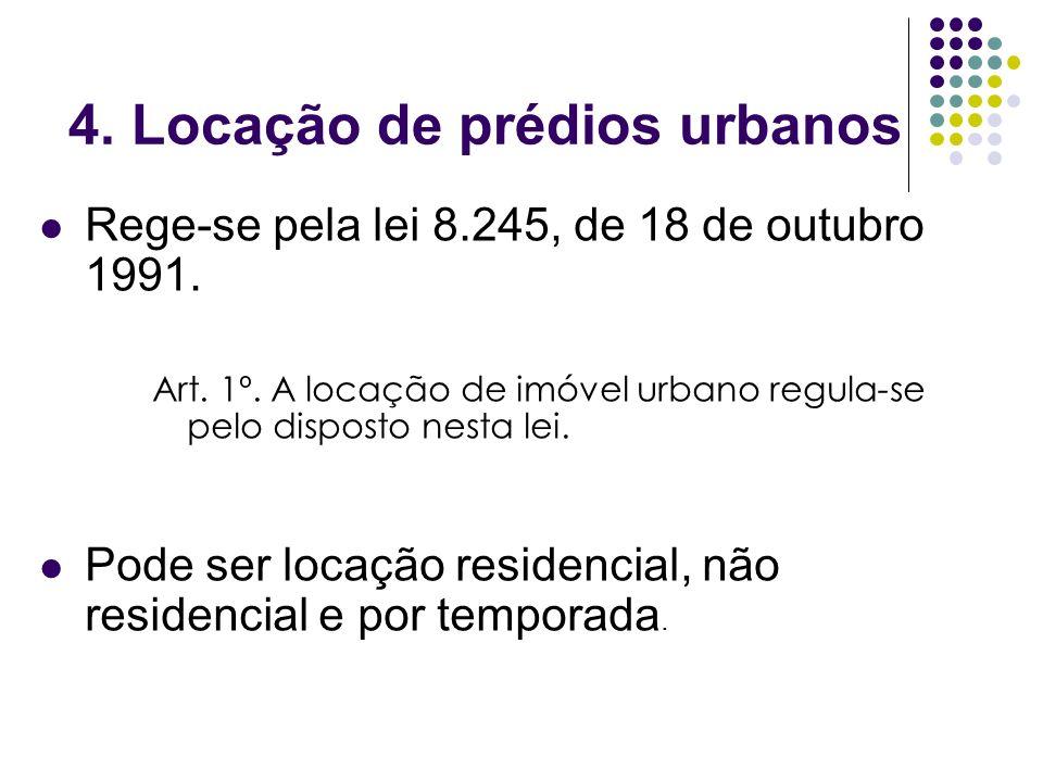 4. Locação de prédios urbanos