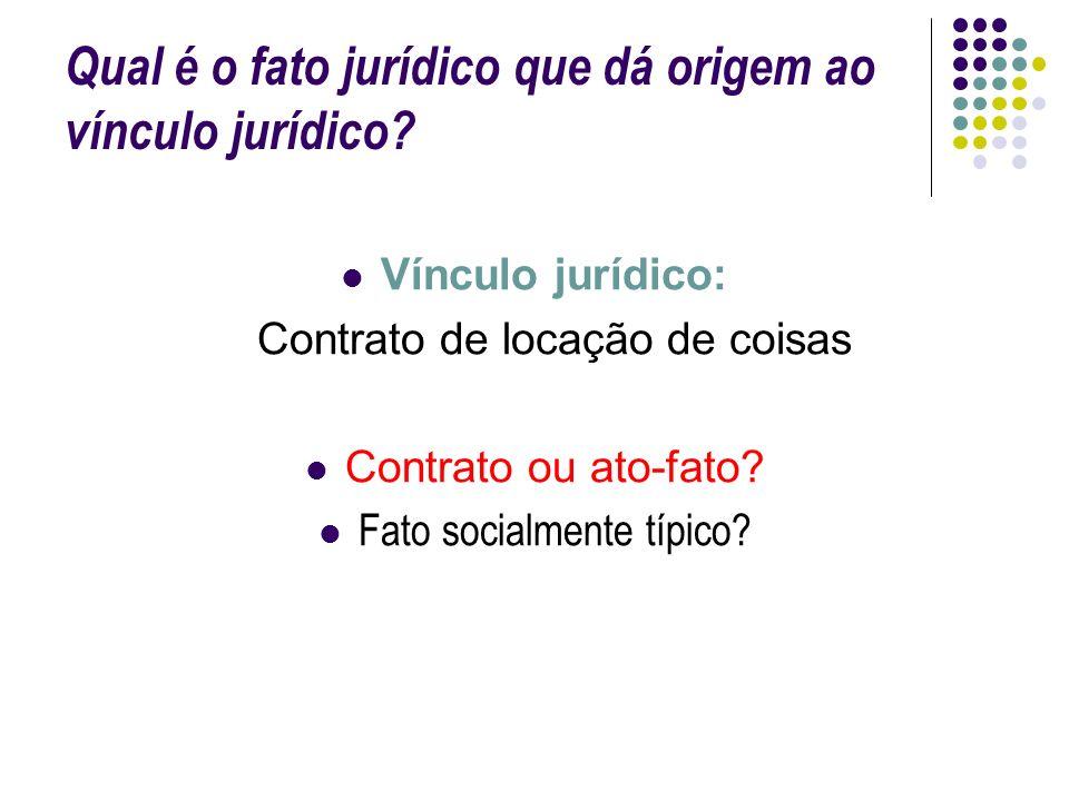 Qual é o fato jurídico que dá origem ao vínculo jurídico