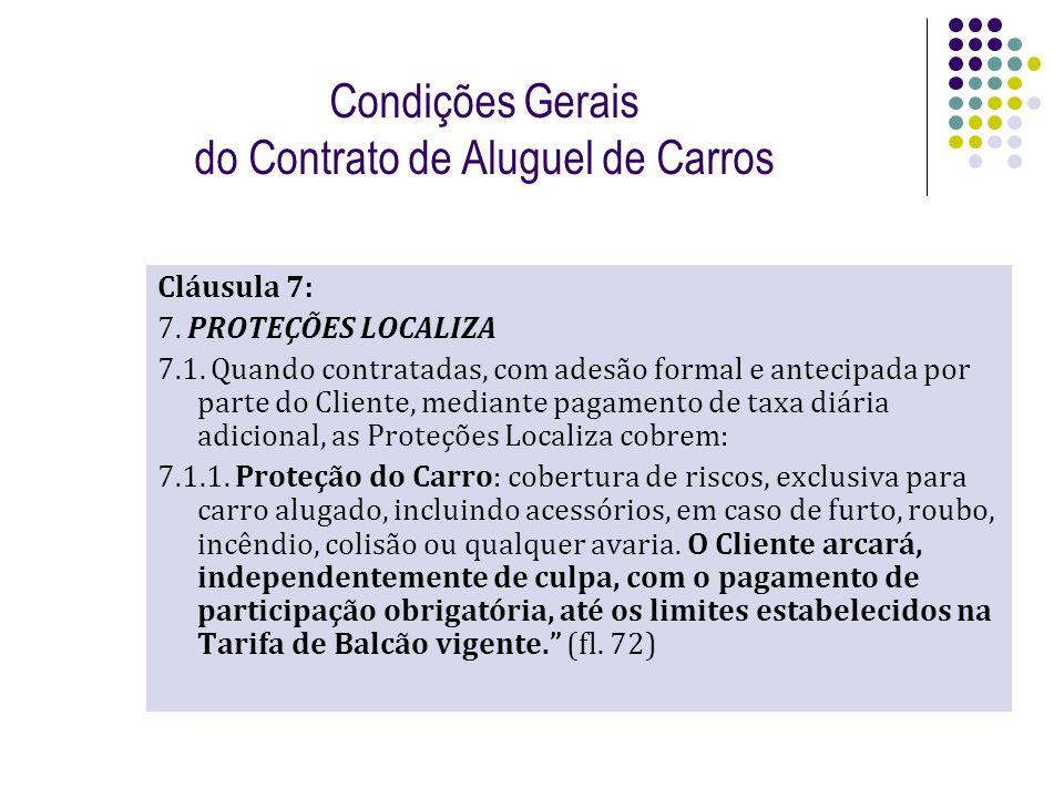 Condições Gerais do Contrato de Aluguel de Carros