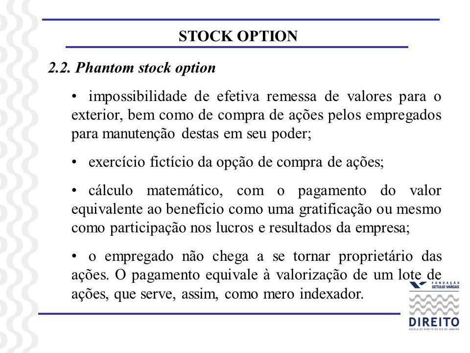 STOCK OPTION2.2. Phantom stock option.