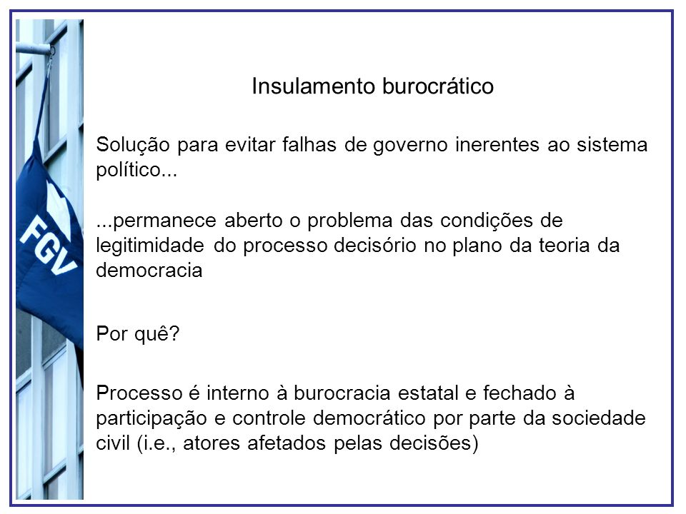 Insulamento burocrático