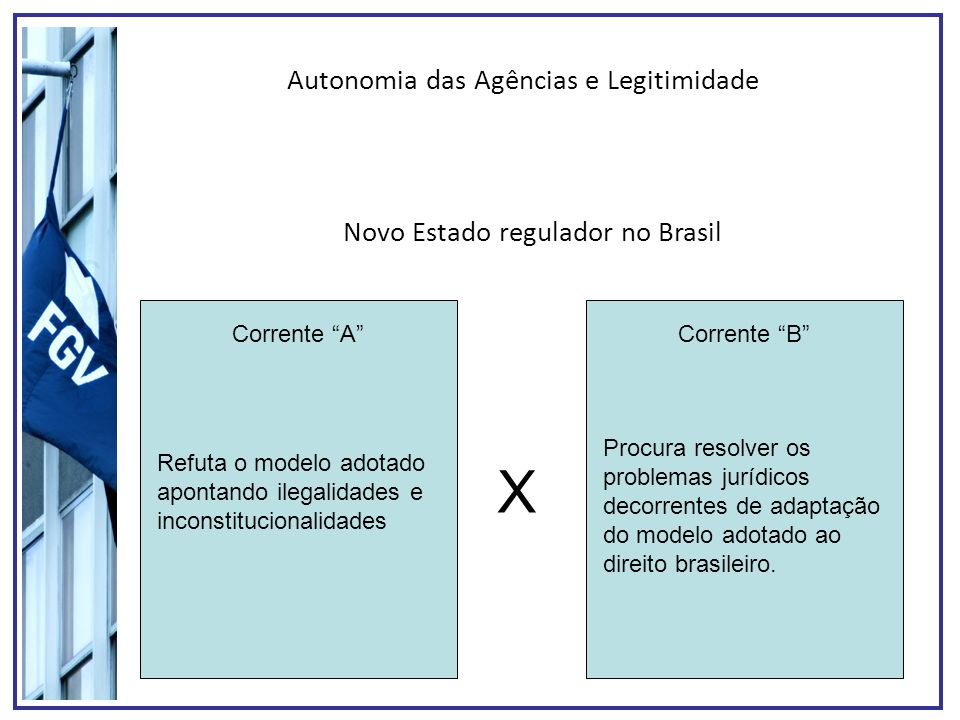 X Autonomia das Agências e Legitimidade