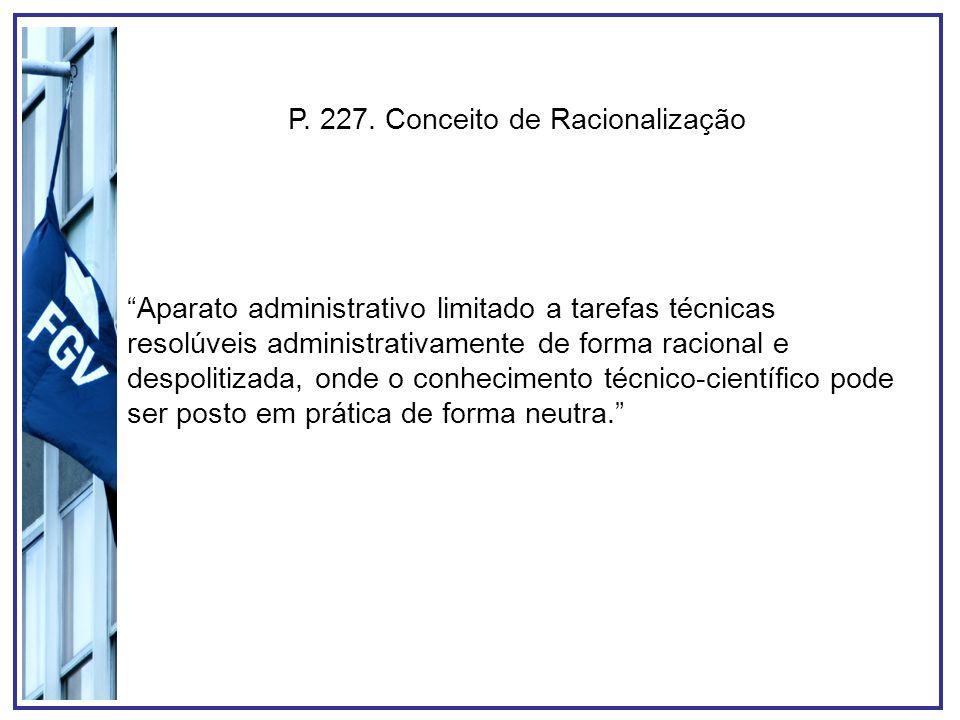 P. 227. Conceito de Racionalização