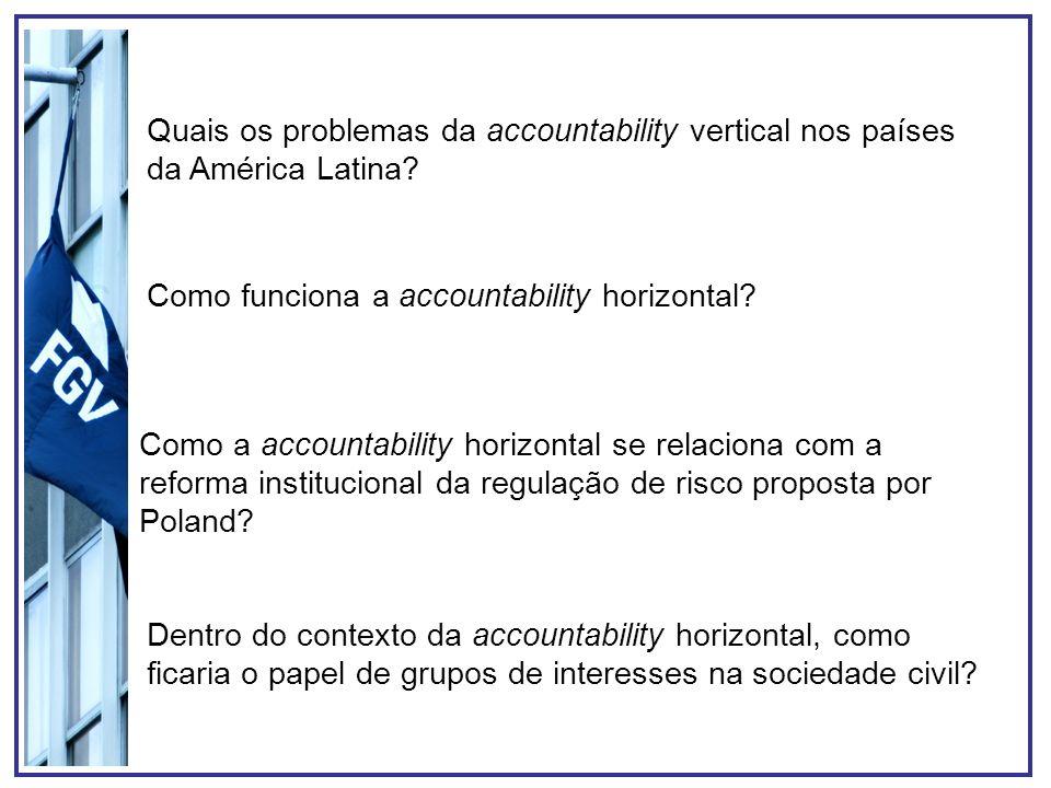 Como funciona a accountability horizontal