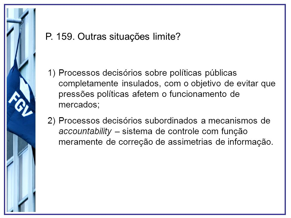 P. 159. Outras situações limite