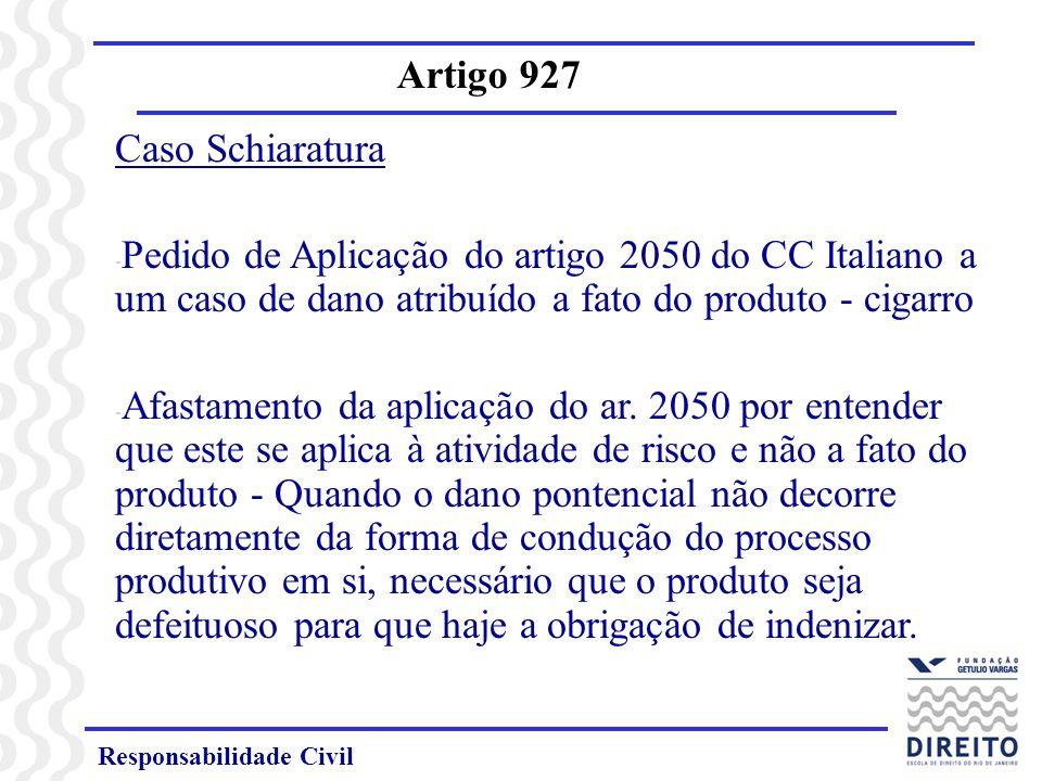 Artigo 927 Caso Schiaratura