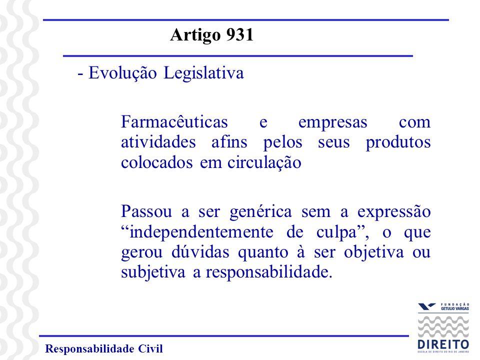 - Evolução Legislativa