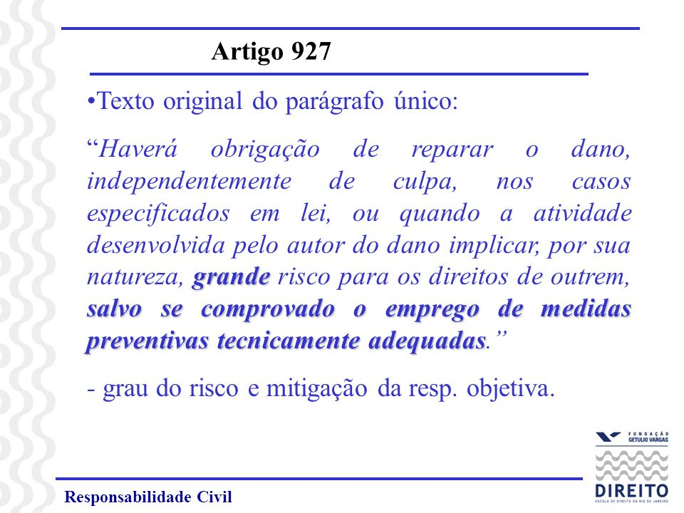 Texto original do parágrafo único: